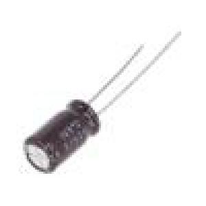 Kondenzátor: elektrolytický THT 22uF 63VDC Ø6,3x11mm ±20%