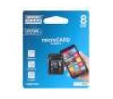 Paměťová karta SD HC Micro 8GB Čtení: 15MB/s Zápis: 4MB/s