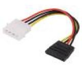 Kabel: SATA-AT/ATX SATA vidlice,AT/ATX zásuvka 150mm