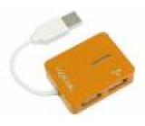 Hub USB USB 1.1,USB 2.0 PnP oranžová Počet portů: 4 480Mbps