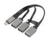 Hub USB USB 3.0,USB 3.1 PnP černá Počet portů: 3