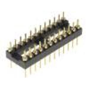 Patice DIP 24 PIN 7,62mm zlacený UL94V-0 THT rozteč 2,54mm