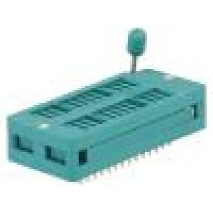 Patice DIP ZIF 28 PIN 7,62/15,24mm rozebíratelná -40-105°C