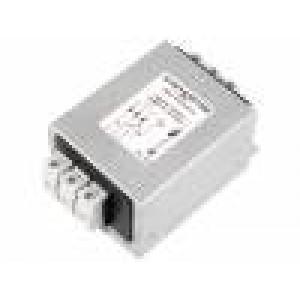 Filtr odrušovací třífázový 480VAC 6A 61x75x48mm na DIN lištu