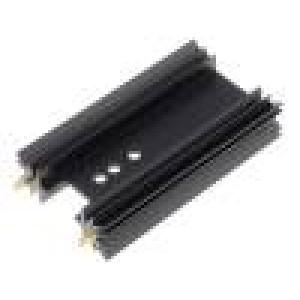 Chladič lisovaný SOT32,TO220,TO3P černá L:63,5mm 8K/W hliník