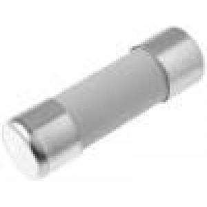 Pojistka tavná gPV keramická, průmyslová 1A 1kVDC 10x38mm měď
