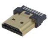 Konektor HDMI zástrčka 19 PIN povrch gold flash na kabel