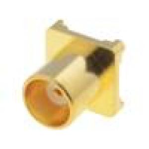 Zásuvka MCX zásuvka přímý 50Ω SMT teflon zlacený