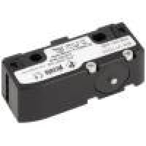 Mikrospínač s trnem SPDT 6A/250VAC 5A/24VDC ON-(ON) IP40
