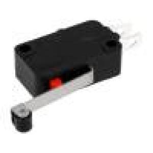 Mikrospínač s páčkou (s kladkou) SPDT 5A/250VAC ON-(ON) IP40