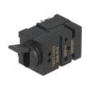 Mikrospínač 1-polohové DPDT 0,5A/60VDC THT 22,46x10,1x10,1mm