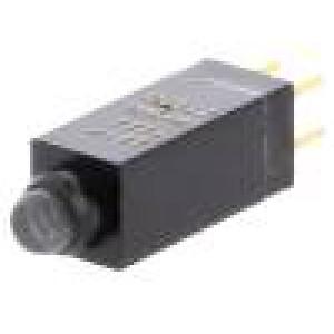 Mikrospínač 1-polohové SPDT THT LED červená 4N 14,96x5x5mm