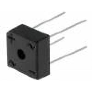 Usměrňovací můstek čtvercový 1kV 10A drát Ø1,2mm