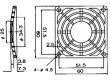 Mřížka 60x60mm Mat plast upevnění šroubem