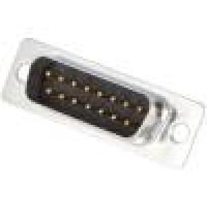 Zástrčka D-Sub 15 PIN vidlice pájení na kabel gold flash