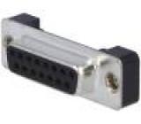 Zásuvka D-Sub 15 PIN zásuvka se závitovým otvorem přímý THT