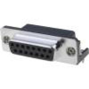 Zásuvka D-Sub 15 PIN zásuvka standard 7,2mm úhlové 90° THT