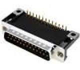 Zásuvka D-Sub 25 PIN vidlice standard 14,1mm úhlové 90° THT
