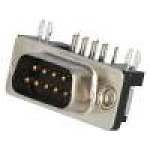 Zásuvka D-Sub 9 PIN vidlice standard 4,2mm zajištění šroubky