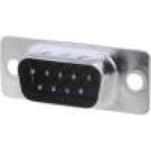 Zásuvka D-Sub 9 PIN vidlice přímý THT zlacený