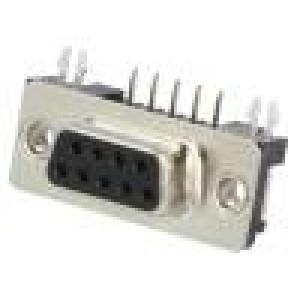 Zásuvka D-Sub 9 PIN zásuvka standard 4,2mm zajištění šroubky