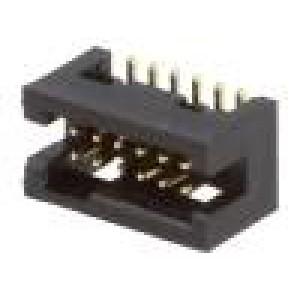 Zásuvka IDC vidlice PIN:12 přímý 1,27mm SMT gold flash