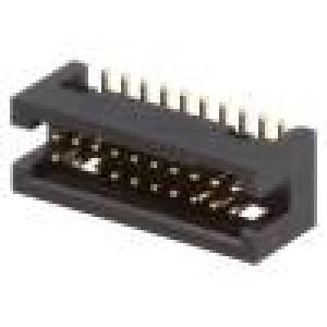 Zásuvka IDC vidlice PIN:20 přímý 1,27mm SMT gold flash