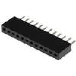 Zásuvka kolíkové zásuvka PIN:12 přímý 1,27mm THT 1x12 1A