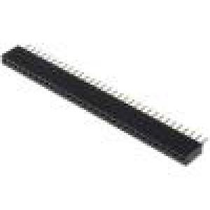 Zásuvka kolíkové zásuvka PIN:32 přímý 1,27mm THT 1x32 1A