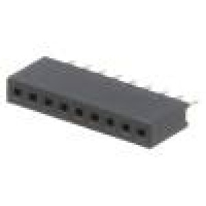 Zásuvka kolíkové zásuvka 9 PIN přímý 1,27mm THT 1x9 1A 30mΩ