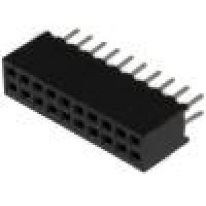 Zásuvka kolíkové zásuvka PIN:20 přímý 1,27mm THT 2x10 1A