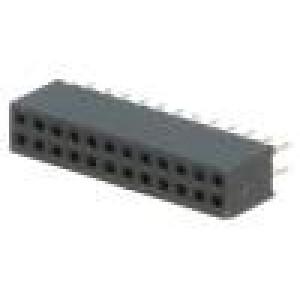 Zásuvka kolíkové zásuvka PIN:24 přímý 1,27mm THT 2x12 1A