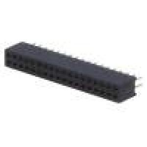 Zásuvka kolíkové zásuvka PIN:36 přímý 1,27mm THT 2x18 1A
