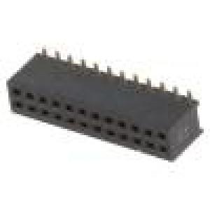 Zásuvka kolíkové zásuvka PIN:24 přímý 1,27mm SMT 2x12 1A