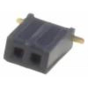 Zásuvka kolíkové zásuvka PIN:2 přímý 1,27mm SMT 2x1 1A 30mΩ