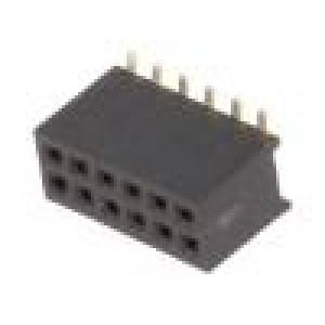 Zásuvka kolíkové zásuvka PIN:12 přímý 1,27mm SMT 2x6 1A 30mΩ