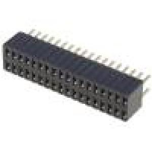 Zásuvka kolíkové zásuvka PIN:36 přímý 1,27mm THT 2x18