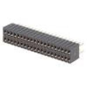 Zásuvka kolíkové zásuvka PIN:40 přímý 1,27mm THT 2x20