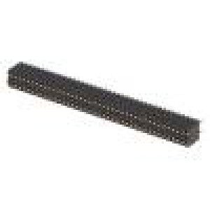 Zásuvka kolíkové zásuvka PIN:80 přímý 1,27mm THT 2x40