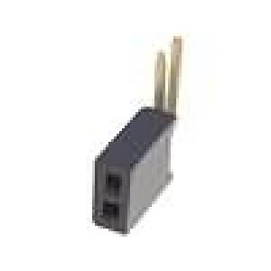 Zásuvka kolíkové zásuvka PIN:2 úhlové 90° 1,27mm THT 2x1