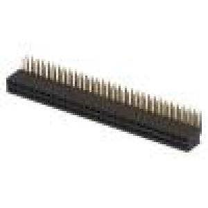 Zásuvka kolíkové zásuvka PIN:64 úhlové 90° 1,27mm THT 2x32