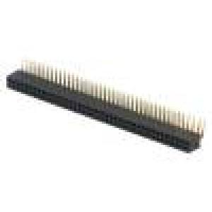Zásuvka kolíkové zásuvka PIN:80 úhlové 90° 1,27mm THT 2x40