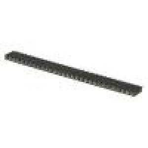 Zásuvka kolíkové zásuvka PIN:30 točené kontakty přímý 2,54mm
