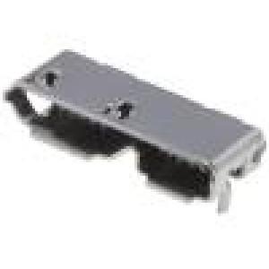 Zásuvka USB B micro SMT vodorovné V USB 3.0 zlacený