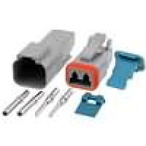 Konektor vodič-vodič AT vidlice + zásuvka 16-18AWG 2PIN