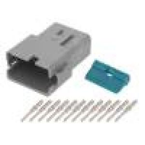 Konektor vodič-vodič ATM vidlice 16-22AWG 12PIN IP67,IP69K