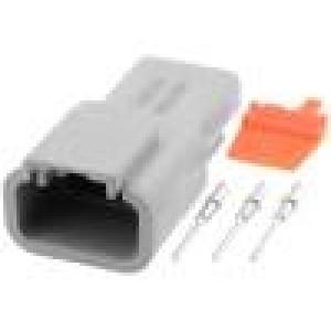 Konektor vodič-vodič ATM vidlice 16-22AWG 3 PINIP67,IP69K