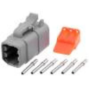 Konektor vodič-vodič ATM zásuvka 16-22AWG 6 PINIP67,IP69K