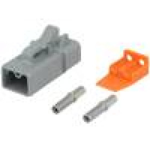 Konektor vodič-vodič ATP zásuvka 12-14AWG 2PIN IP67,IP69K