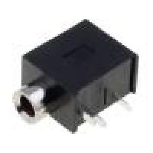 Zásuvka Jack 3,5 mm zásuvka stereo THT